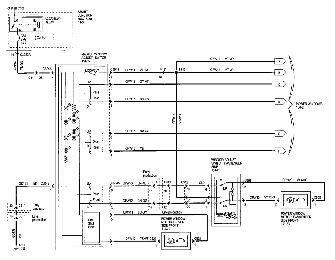 diagrama de cableado ventanas  u2013 ais3d